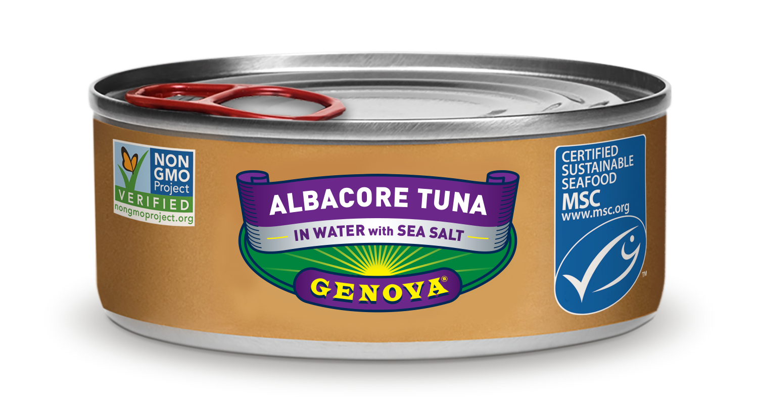 Albacore Tuna in Water with Sea Salt